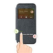 제품 iPhone X iPhone 8 아이폰5케이스 케이스 커버 윈도우 풀 바디 케이스 한 색상 하드 인조 가죽 용 iPhone X iPhone 8  Plus iPhone 8 iPhone SE/5s iPhone 5
