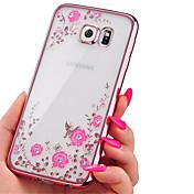 Electroplating Secret Garden Flower Diamond Phone Cases For Samsung Galaxy J3/J5/J7