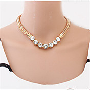 Women's Choker Necklaces Pearl Necklace Statement Necklaces Pearl Alloy Fashion Statement Jewelry Gold Black Silver JewelrySpecial