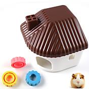 플라스틱 애완 동물 햄스터 주민 침실 작은 동물 햄스터의 모래 목욕 룸 햄스터 케이지
