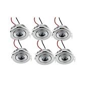 1W 매립 조명 1 고성능 LED 200 lm 따뜻한 화이트 장식 AC 100-240 V 6개