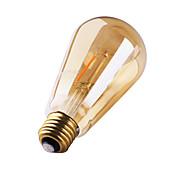 1개 GMY E26/E27 2W 2 COB ≥180 lm 따뜻한 화이트 ST64 edison 빈티지 LED필라멘트 전구 AC 220-240 V