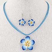 Mujer Juego de Joyas Pendientes colgantes Collares con colgantes Collar / pendientes Moda Elegant joyería de disfraz Legierung Joyas Para