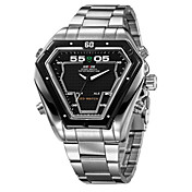 WEIDE® Men's Watch Dress Watch Triangle LED Multi-Function Dual Time Zones Water Resistant Wrist Watch Cool Watch Unique Watch