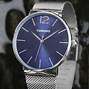 TOMORO 남여공용 드레스 시계 패션 시계 손목 시계 / 석영 일본 쿼츠 스테인레스 스틸 밴드 캐쥬얼 실버