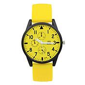 남여공용 패션 시계 캐쥬얼 시계 석영 고무 밴드 캔디 블랙 화이트 블루 핑크 노란색