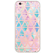 Geometric Tile Pattern TPU Ultra-thin Translucent Soft Back Cover for Apple iPhone 6s 6 Plus SE/5s/5