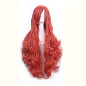 높은 품질 80cm 긴 물결 모양의 합성 머리는 합성 가발 여성 코스프레 가발에게 의상 파티 가발 가발