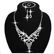 Mujer Juego de Joyas Pendientes cortos Pendientes colgantes Collares Babero joyería de disfraz Moda Ajustable Nupcial Elegant Cobre