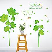 보태니컬 벽 스티커 플레인 월스티커 데코레이티브 월 스티커,PVC 자료 물 세탁 가능 / 이동가능 홈 장식 벽 데칼