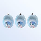 크리스마스 장식 볼 블루 색상 3PCS