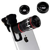 detalles about4in1 ojo de pez de gran angular micro cámara de lentes de telefoto 10x fr iPhone 6 6s más 5s
