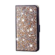 Para la galaxia j5 del diamante la cubierta de cuero del caso del tirón del diamante cubre la caja brillante de la ranura para tarjeta
