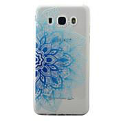 Para la galaxia j5 j3 de Samsung (2016) la cubierta azul del caso patrón medio de las flores pintó la caja material del teléfono del tpu