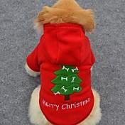 개 후드 레드 강아지 의류 겨울 솔리드 귀여운 / 휴일 / 패션 / 크리스마스