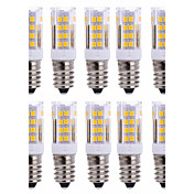 10Pcs 유선 Others E14 51Led Smd2835 5w  850Lm AC220   White Warm Natural White Small Ceramic Corn Lamp Other