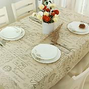 Rectangular Estampado Forros de Mesa , Mezcla de Lino y Algodón MaterialHotel Dining Tabla Cena banquete de la boda Tabla Dceoration