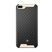 용 충격방지 케이스 뒷면 커버 케이스 기하학 패턴 하드 탄소 섬유 용 Apple 아이폰 7 플러스 / 아이폰 (7) / iPhone 6s Plus/6 Plus / iPhone 6s/6