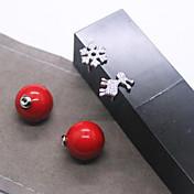 크리스마스 눈송이 새끼 사슴 큰 진주 귀걸이 소녀는 빨간 조개 진주 비대칭 귀걸이가 조커