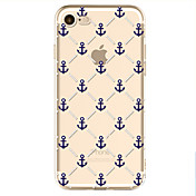 For Apple iPhone 7  6S Case Cover Anchor Pattern Painted TPU Material Soft Package Phone Case