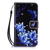 For Samsung Galaxy A710 A510 A310 A7 A5 A3 Butterfly Pattern PU Leather Full Body Case with Stand and Card Slot