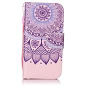 Para Cartera / Soporte de Coche / con Soporte / Flip / Diseños Funda Cuerpo Entero Funda Mandala Dura Cuero Sintético para AppleiPhone 7