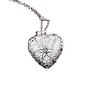 Women's Lockets Necklaces Silver Plated Fashion Silver Jewelry Party Daily 1pc