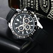남성 스포츠 시계 밀리터리 시계 드레스 시계 패션 시계 석영 실리콘 밴드 캐쥬얼 블랙 화이트 레드 네이비