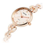 KEZZI 아가씨들 패션 시계 손목 시계 석영 합금 밴드 멋진 캐쥬얼 실버 로즈 골드