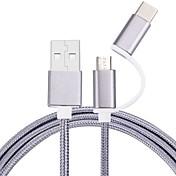 100cm 마이크로 USB 타입 - C 케이블 꼰 휴대폰 핸드폰 삼성 화웨이 소니 노키아 HTC 모토로라 lg lenovo xiaomi 100cm 나일론