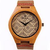 여성용 패션 시계 시계 나무 석영 / 나무 밴드 캐쥬얼 브라운