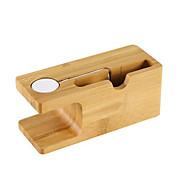 사과 전화는 사과 시계 전화 스탠드 브라켓 나무 스텐트에 대한 충전식 스텐트 받침대 브래킷을 시계