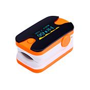 디지털 손가락 끝 맥박 산소 측정기 OLED 디스플레이 심장 박동 모니터 블루와 오렌지