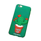 용 DIY 케이스 뒷면 커버 케이스 3D카툰 캐릭터 소프트 실리콘 용 Apple iPhone 6s Plus/6 Plus iPhone 6s/6