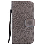삼성 갤럭시 a5 a3 2017 pu 소재 태양 꽃 패턴 양각 된 전화 케이스 a5 a3 2016