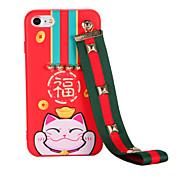 용 패턴 DIY 케이스 뒷면 커버 케이스 고양이 소프트 TPU 용 Apple 아이폰 7 플러스 아이폰 (7) iPhone 6s Plus iPhone 6 Plus iPhone 6s 아이폰 6