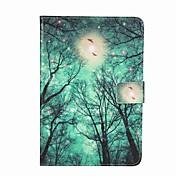용 지갑 카드 홀더 스탠드 플립 패턴 케이스 풀 바디 케이스 나무 하드 인조 가죽 용 Apple iPad Mini 4 iPad Mini 3/2/1