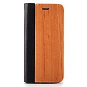용 케이스 커버 카드 홀더 스탠드 오리가미 마그네틱 풀 바디 케이스 단색 하드 나무 용 Apple아이폰 7 플러스 아이폰 (7) iPhone 6s Plus iPhone 6 Plus iPhone 6s 아이폰 6 iPhone SE/5s iPhone