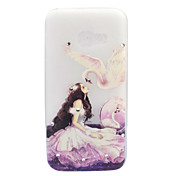 For Samsung Galaxy A3 A5 (2017) Case Cover Beauty And Swan Pattern Painted Point Drill Scrub TPU Material Luminous Phone Case