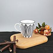 미니멀리즘 파티 드링크웨어, 250 ml 간단한 기하학적 패턴 재사용 가능 자기 차 누드 일상용 컵 티컵 머그컵