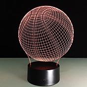 Novedad 3d visual acrílico llevado luz nocturna luz de baloncesto usb lámpara de mesa dormitorio lámpara de gradiente colorido atmósfera