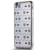 애플 iphone7 7 플러스 케이스 커버 도금 거울 패턴 다시 커버 케이스 라인 / 파도 타일 소프트 tpu 6s 플러스 6 플러스 6s 6