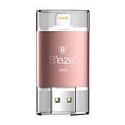 iphone ipad pc를위한 ios 창을위한 biaze 64GB OTG 플래시 드라이브 u 디스크