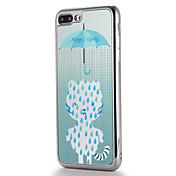 사과 iphone7 7 플러스 케이스 커버 도금 거울 패턴 다시 커버 케이스 고양이 부드러운 tpu 6s 플러스 6 플러스 6s 6