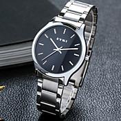 남성용 패션 시계 기계식 시계 석영 합금 밴드 캐쥬얼 화이트