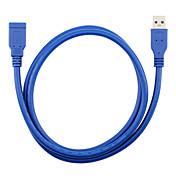 USB 3.0 Cable de extensión, USB 3.0 to USB 3.0 Cable de extensión Macho - Hembra 0,3 m (1 pie)