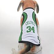 Hund Pullover Overall Hundekleidung Cosplay Lässig/Alltäglich Buchstabe & Nummer Gelb Grün