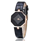 여성용 패션 시계 캐쥬얼 시계 손목 시계 석영 모조 다이아몬드 가죽 밴드 창의적 블랙 화이트 블루 레드 브라운