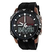 남성 아가씨들 스포츠 시계 드레스 시계 스마트 시계 패션 시계 손목 시계 독특한 창조적 인 시계 중국어 디지털 태양 에너지 달력 크로노그래프 방수 태양 에너지 야광 실리콘 밴드 참 멋진 우아한 멀티컬러