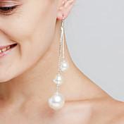 Mujer Pendientes colgantes Perla artificial Sexy Moda Personalizado Euramerican joyería película Joyería de Lujo Joyería Destacada Cobre